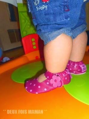 premiers pas de bébé