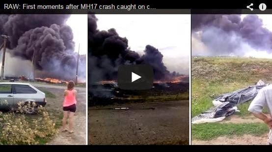 Video Jarak Dekat Saat-Saat Awal Selepas Pesawat MH17 Terhempas