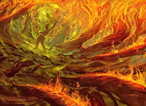 Noah Bradley ilustrações fantasia games magic gathering