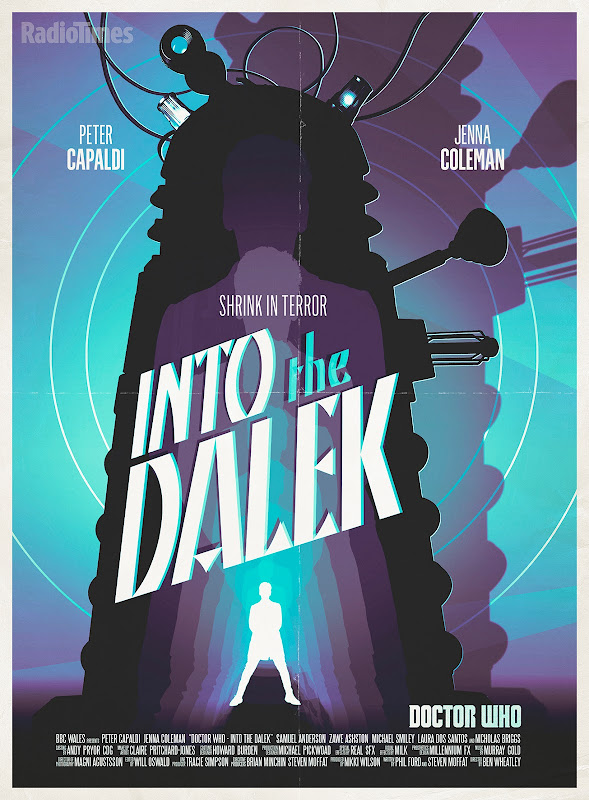 Doctor Who Into the Dalek retro poster