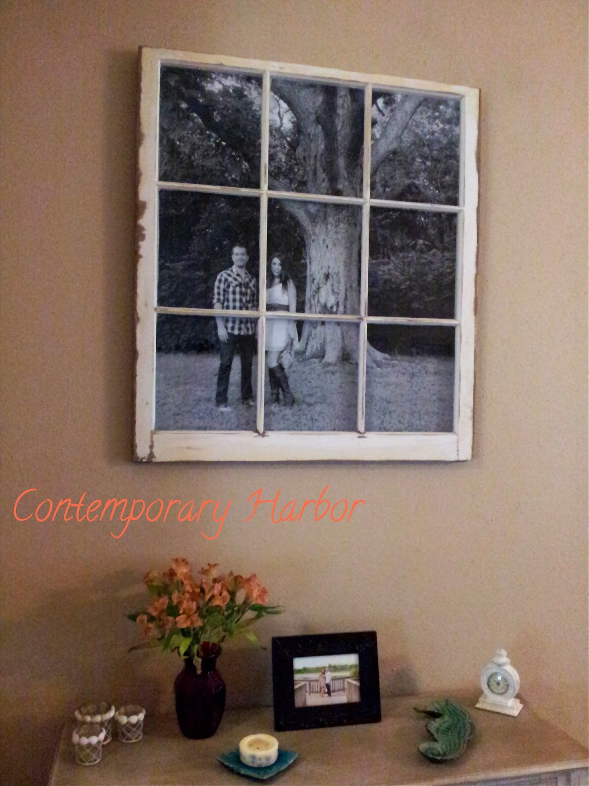 Window Pane Wall Decor contemporary harbor: window pane picture frame