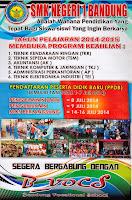 Brosur PPDB Online SMK Negeri 1 Bandung 2014/2015