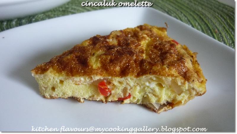 ... flavours: Telur Dal Cincaluk (Cincaluk Omelette, A Nyonya Dish