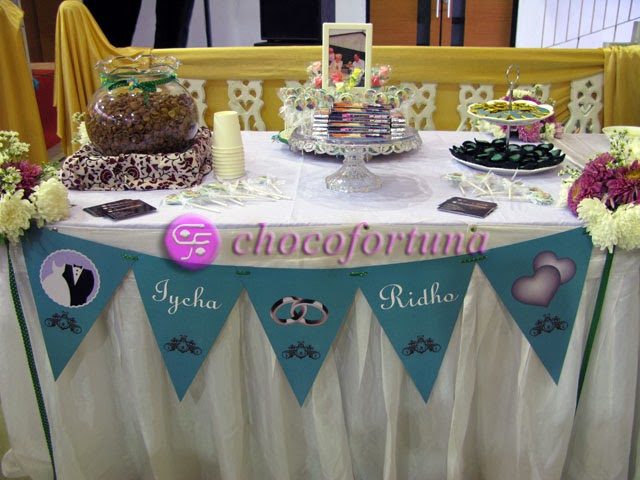 Cokelat Coklat Dessert Table sweet corner wedding pernikahan