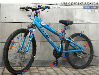 ELT CLIL EFL ESOL Bicycle parts game activity