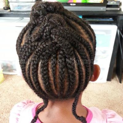 Pinterest Inspired Cornrow Hairstyle