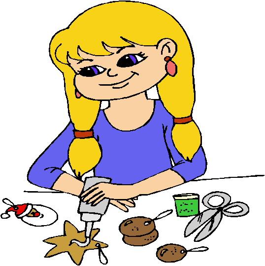 Kids doing crafts clip art children art and crafts 092212