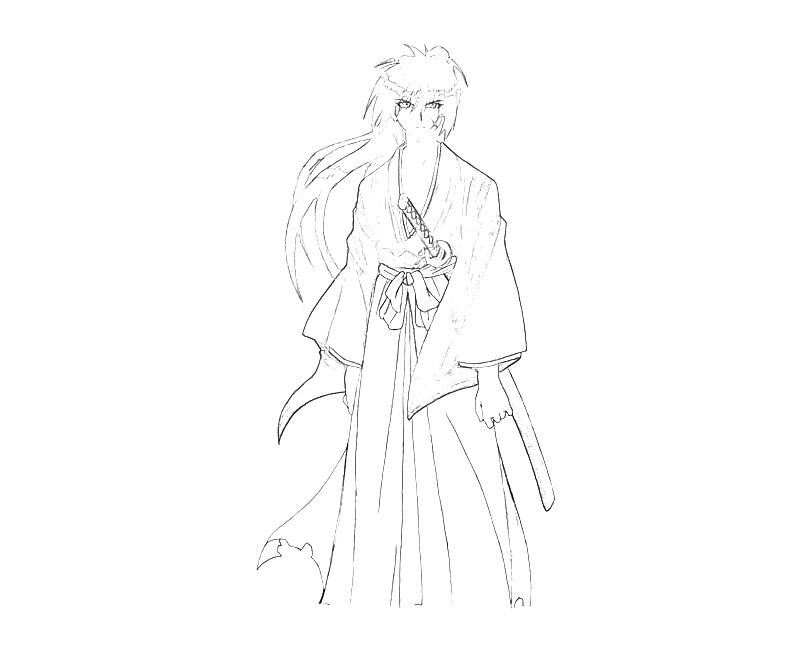 coloring pages for rurouni kenshin - photo#15