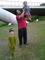 Abah with anak2..