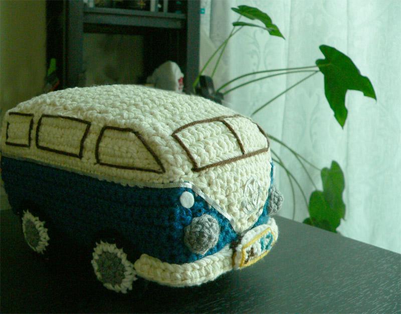 Vw Campervan Knitting Pattern : Expattern: Amigurumi Crochet Handmade VW Volkswagen Kombi Bus Car Toys Pattern