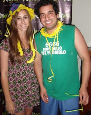 Junior Silva y Daniela Camaiora