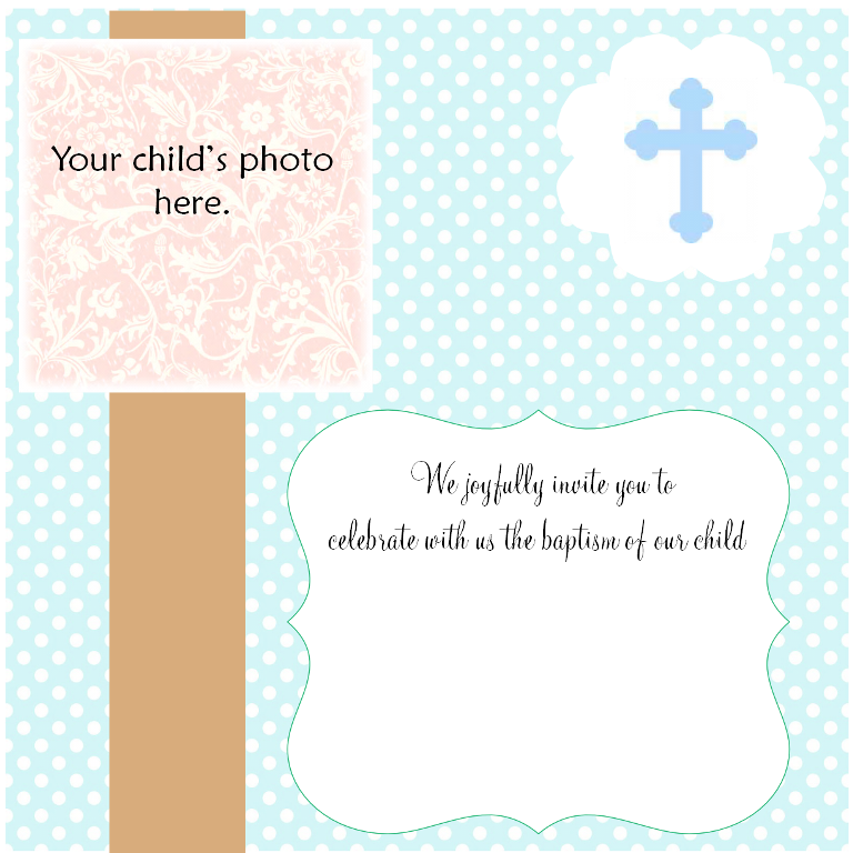 Christening Invitation Cards New Project on Busy Binder