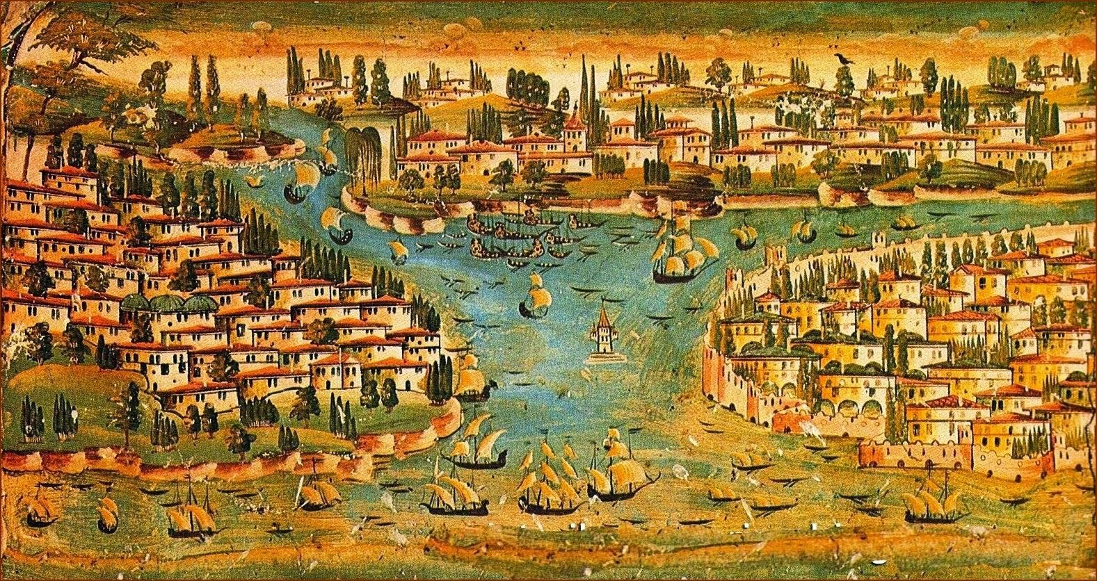 Τοιχογραφία σε αρχοντικό της Καστοριάς. 18ος αιών