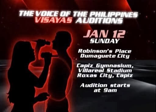The Voice of the Philippines Season 2 Visayas Audition schedule dates and venue