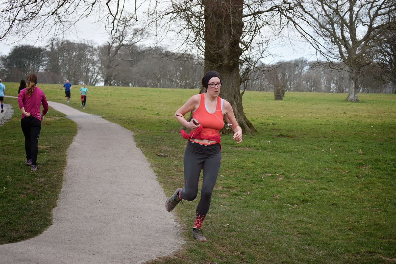 Finishing Lanhydrock Park Run
