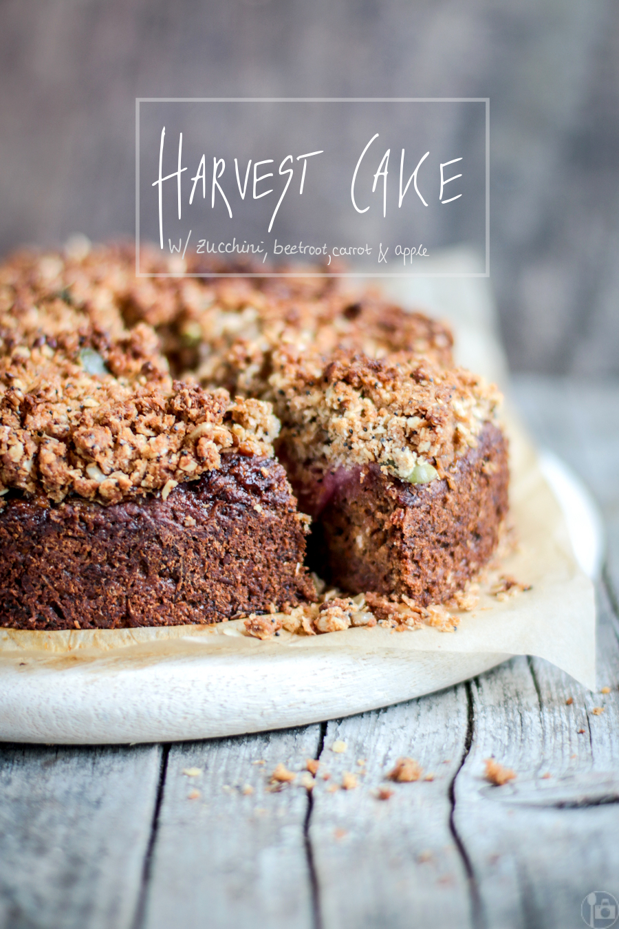 Cake with Zucchini, Beetroot, Carrot and Apple - perfect for the Harvest/Thanksgiving season