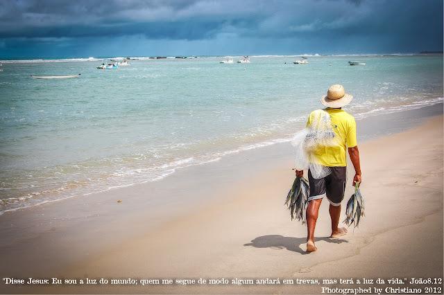 Pescador, Peixe, praia, maceio, alagoas
