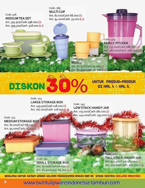Promo Diskon 30% Tulipware | November - Desember 2014