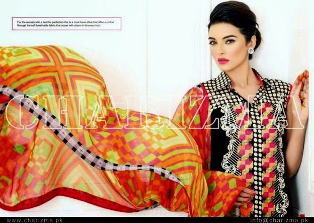 Charizma Swiss Voil Lawn Embroidered Collection 2014