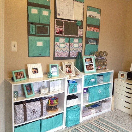 Small Town Life Craft Office Organization Inspiration A