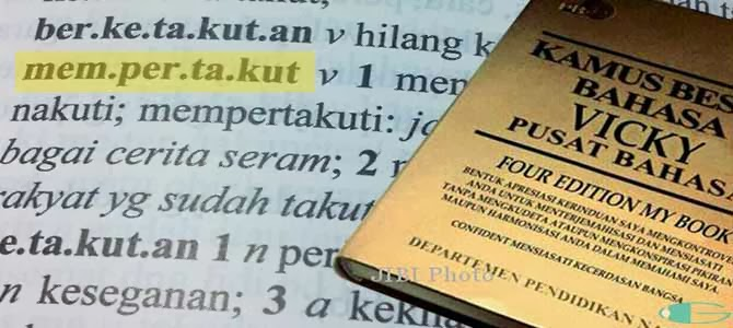 Kamus Besar Bahasa Vicky Prasetyo Lengkap Gupitan
