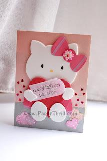 Hello kitty pop up card
