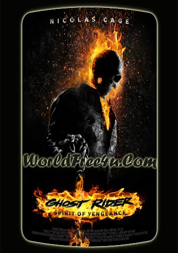 Poster Of Ghost Rider 2 (2012) Full Movie Hindi Dubbed Free Download Watch Online At worldfree4u.com