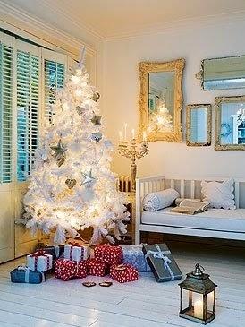 el arbol de navidad blanco