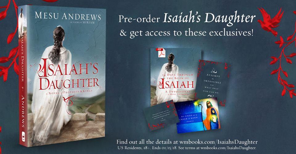 PRE-ORDER ISAIAH'S DAUGHTER