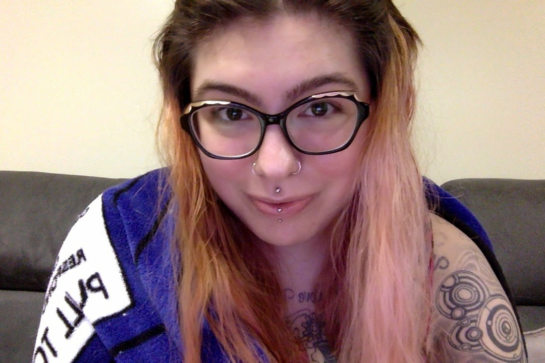life update, life lately, 25 before 26, personal, personal health, anxiety, book club, the scholastic siren, mental health, self care, self love, radical self love, selfie, no makeup selfie, TARDIS, gallifreyan, tattoo, doctor who, dr who, girl with tattoos, girl with piercings, facial piercings