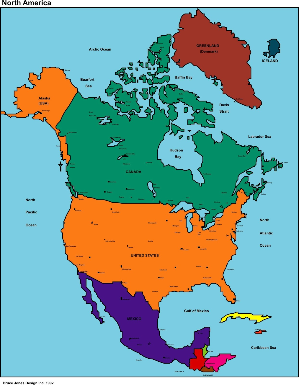 Map Of United States With Cities World Map Geoatlas Countries Usa - Us map region division