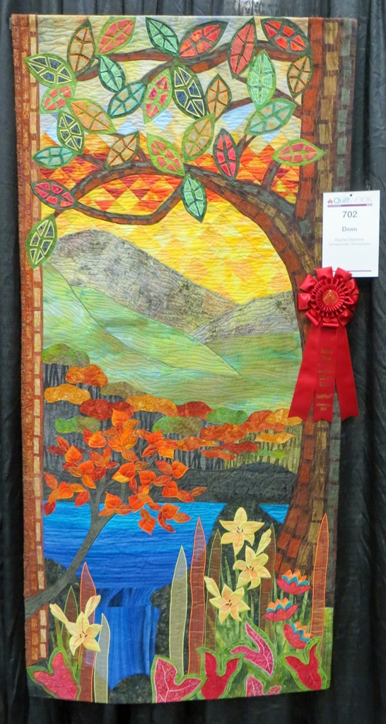 2nd place ribbon cathy geiers quilty art blog my 1st place ribbon at the aqs show