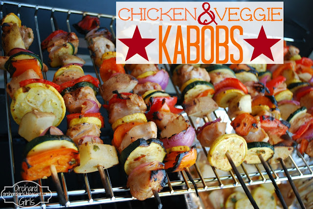 Chicken and Veggie Kabobs