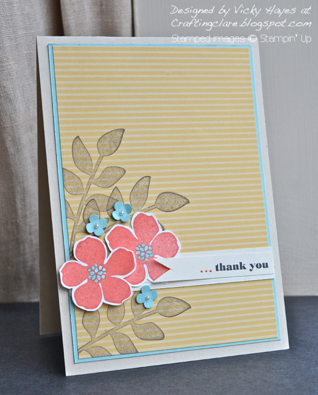 Card made with Secret Garden by Stampin' Up