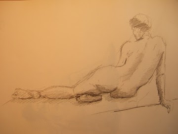 Desenho de Corpo Feminino Nu