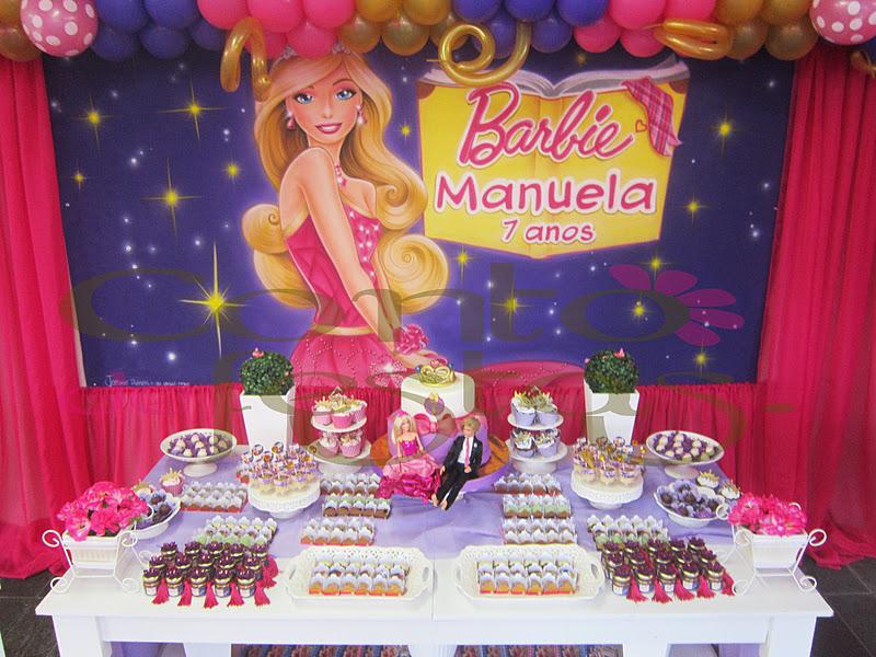 Anivers  Rio Tema Barbie Escola De Princesas   Manuela   7 Anos