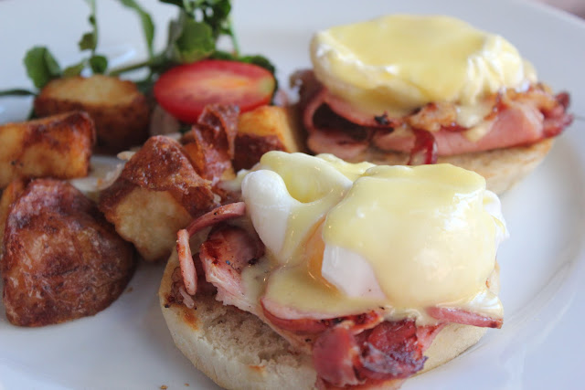 Eggs Benedict at Back Deck, Boston, Mass.