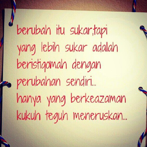 Aku tidak sempurna.. ~: Istiqomah..