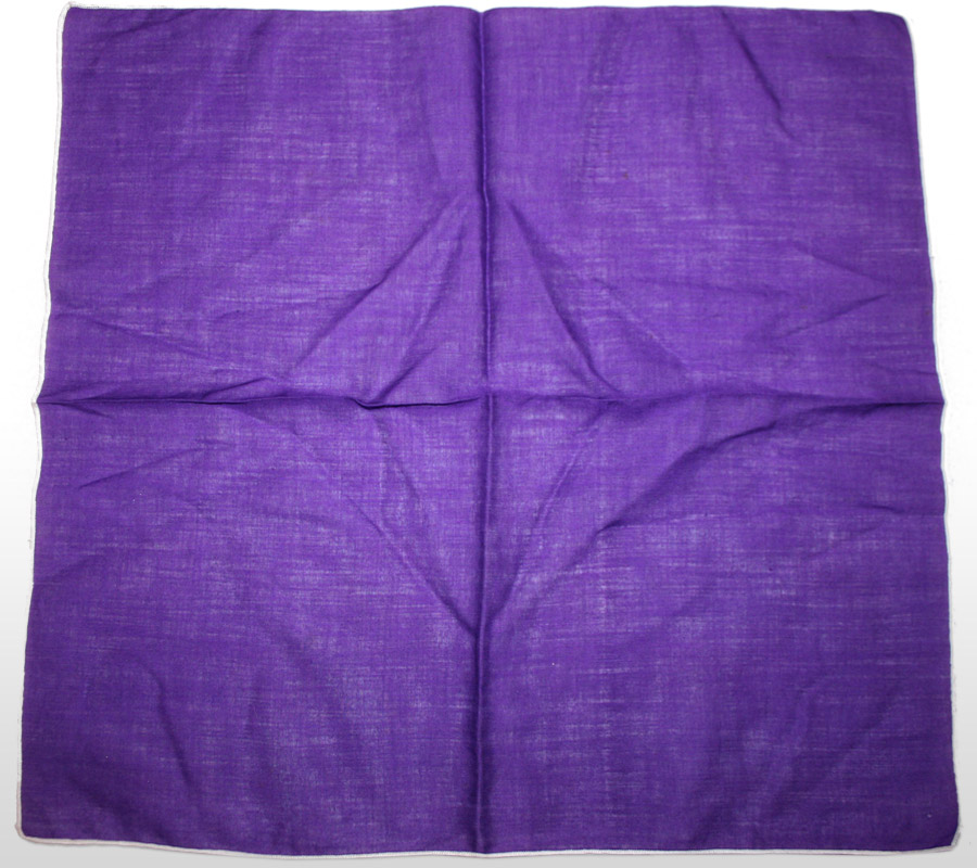 purple handkerchief