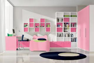 furniture minimalis kamar tidur baik untuk kamar tidur anak perempuan sederhana dengan nuansa pink