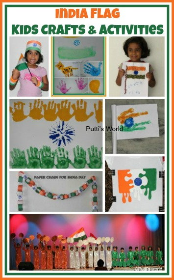 India Flag Kids Crafts Independence Republic Activities