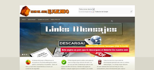 Imagen de la Pagina secundaria de ElLeondejudarugiendo ( Leon de Juda Rugiendo)