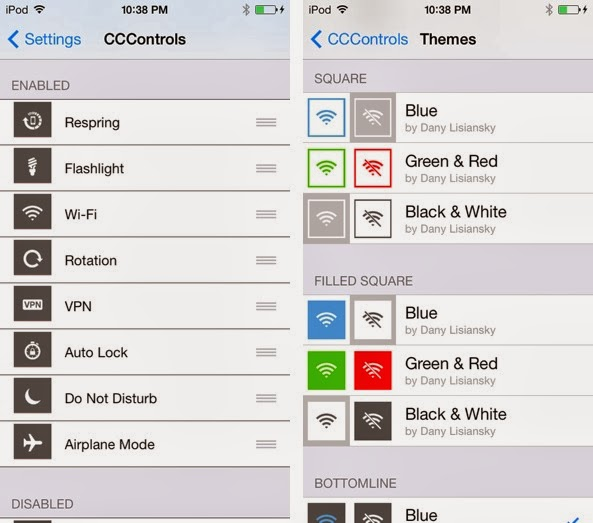 This is why CCControls is one of the best jailbreak tweaks for iOS 7... This tweak is available for free. The preferences for CCControls are...