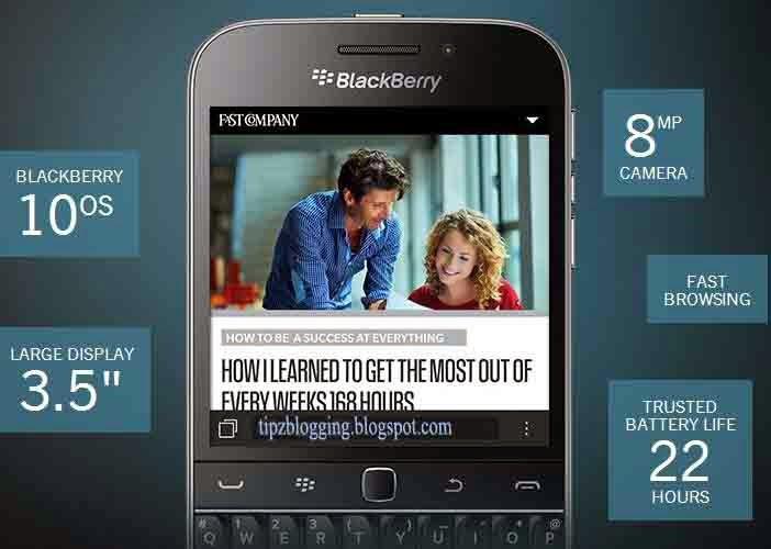 Harga Spesifikasi Blackberry Classic Terbaru 2015 RESMI