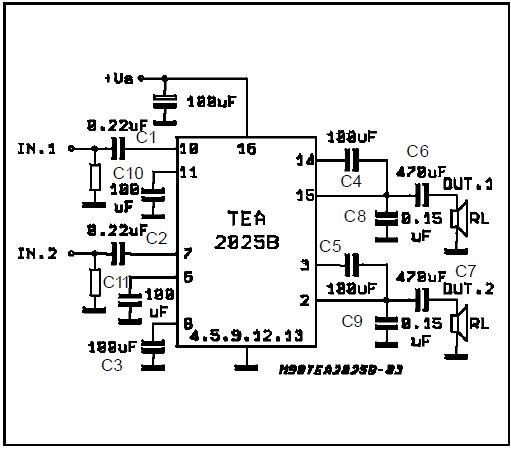 ragam rangkaian electronika dasar  amplifier tda 2025