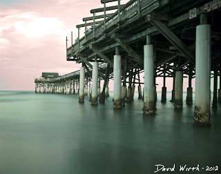 ocean waves, pier, nd filter, homemade, mist, calm, smooth