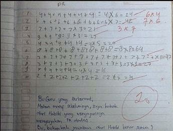 PR Matematika Kelas 2 SD Bikin Heboh Internet, Guru yang Bloon, Anak Kritis