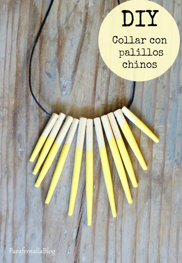 Cómo hacer un collar con palillos chinos en Recicla Inventa