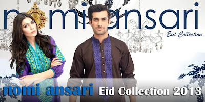 Nomi Ansari Eid Collection 2013-2014 For Men Women