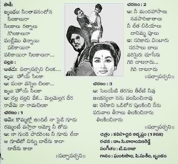 chodavaramnet old telugu movie song lyrics collection